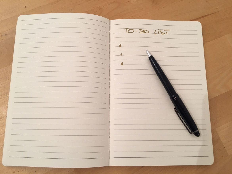 To-do-list, organisation