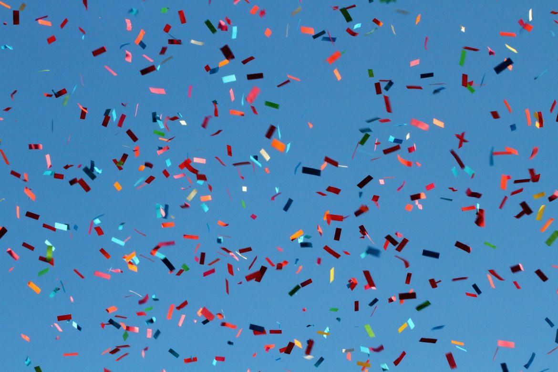 fête, confettis