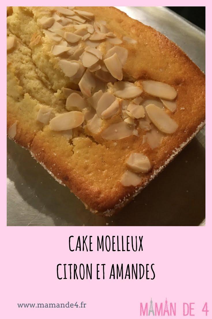 cake moelleux au citron et aux amandes - recette