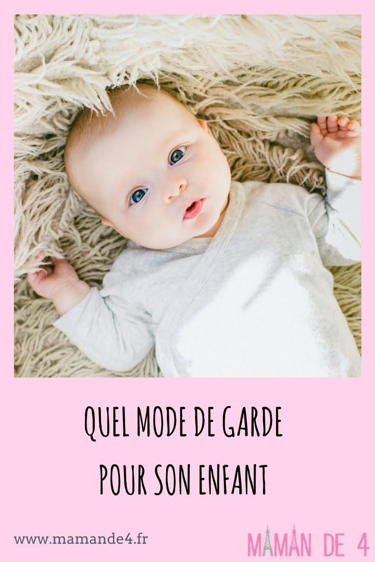 mode de garde enfant, crèche ou nounou