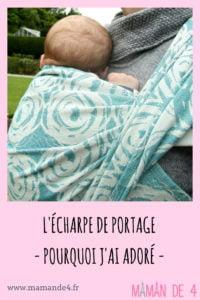 écharpe de portage,  bébé et maman