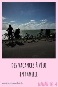 Partir en vacances à vélo en famille, avec des enfants.