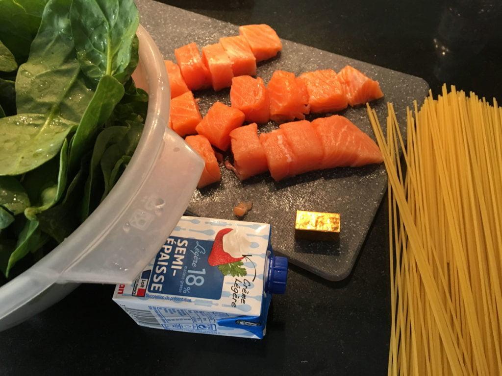 Recette spaghettis au saumon
