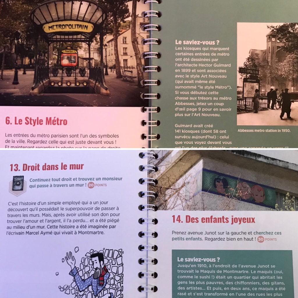 Carnet de chasse au trésor Paris