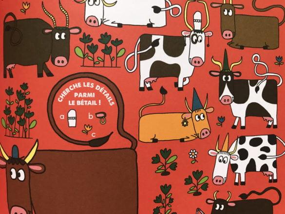 cherche et trouve sur les vaches