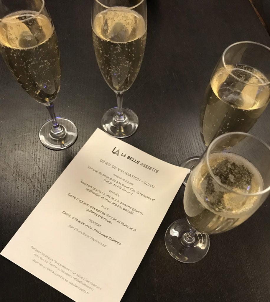 Diner de validation - champagne