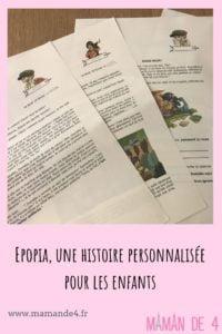 Epopia - histoire personnalisée