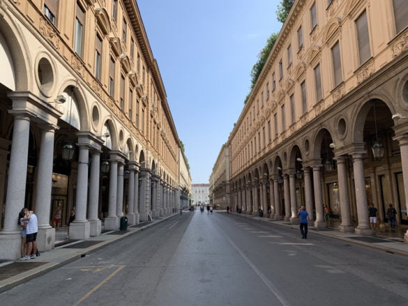 une rue de Turin