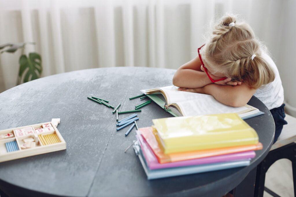 enfant fatigué